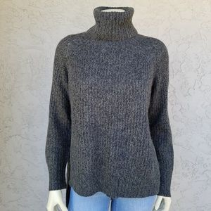 Express Wool Blend High Low Turtleneck Sweater